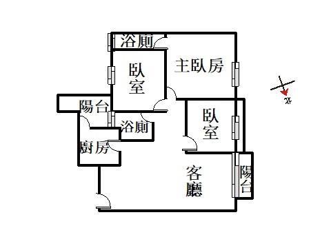 東方文華稀有高樓採光視野三房平車- 1059663