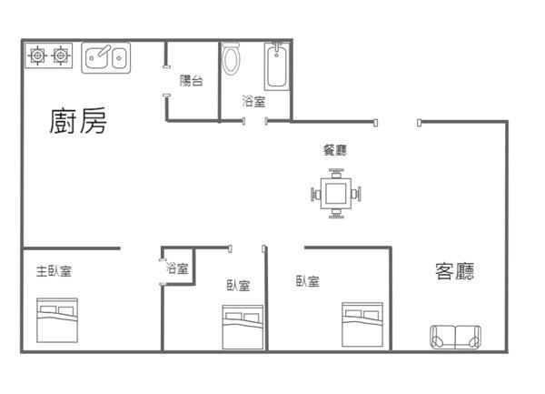 清大馬偕美三房低公設- 1243949 (1)