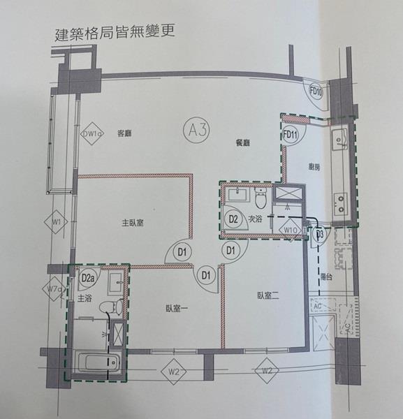 獨家【國泰禾A3棟】8樓大三房+B2平車近介壽段- 0058052