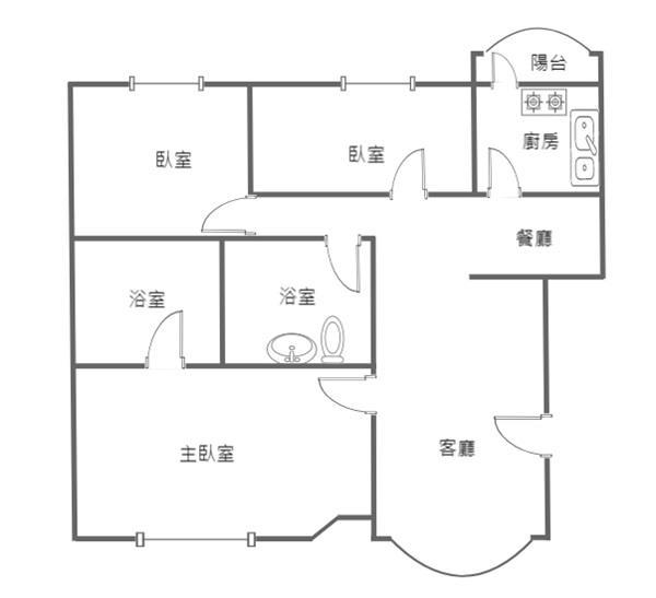 獨家~中華敦煌超值美三房+平面車位- 0868710