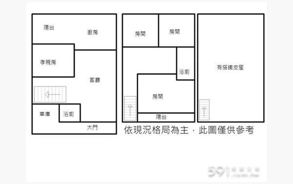 龍山社區田字透天+孝親房- 1153324