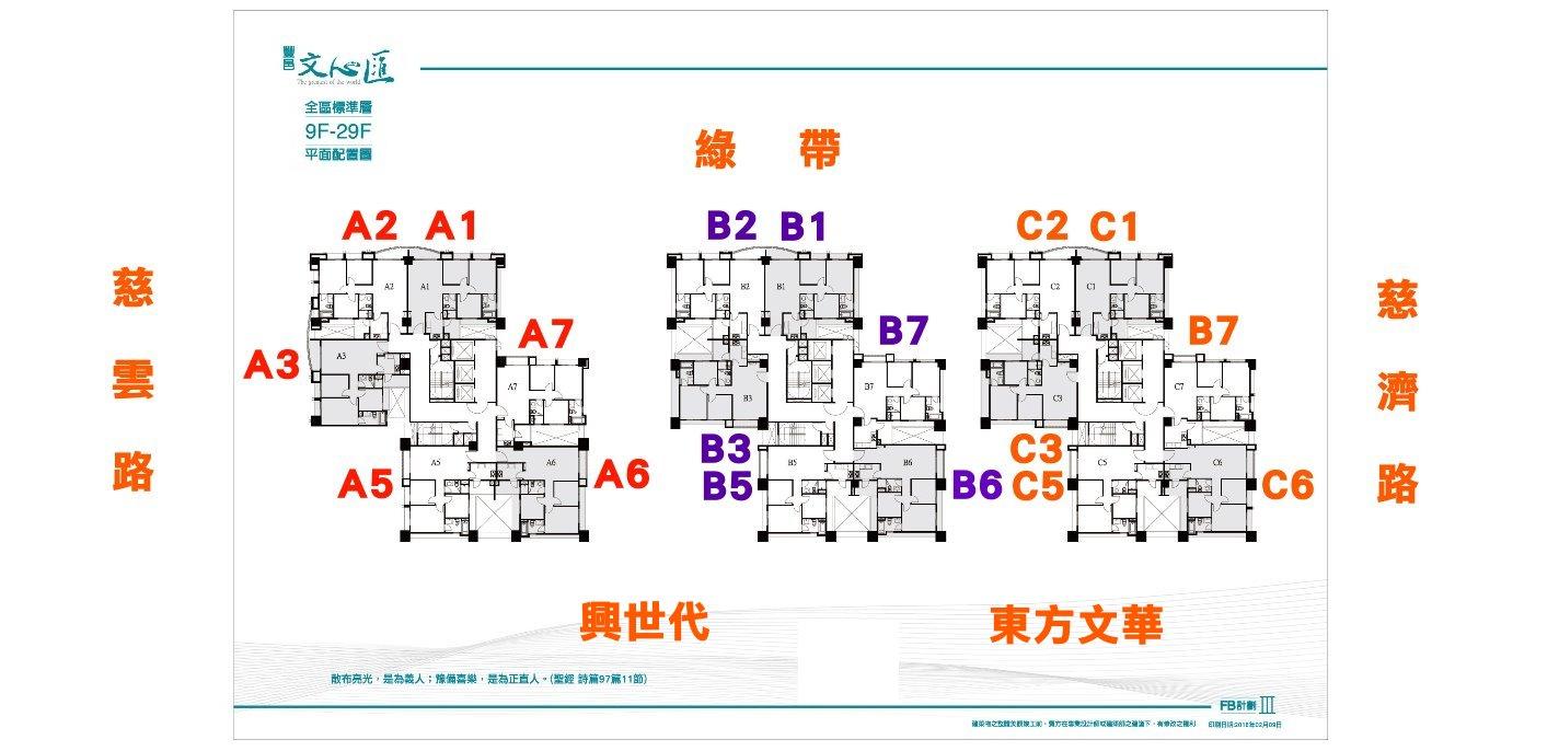 【關埔重劃區】豐邑文心匯社區平面圖